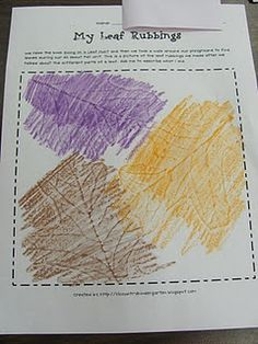 Lil Country Librarian: We're Going on a Leaf Hunt {Leaf Rubbings Printable} Fall Preschool Activities, Kindergarten Art Projects, Kindergarten Science, Book Activities, Eyfs Activities, Leaf Book, Leaf Projects, Tree Study, First Grade Science
