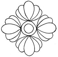 "Asian Flower Block 7.5""    - #DRAW #ZENTANGLE #ZENDALA #TANGLE #DOODLE #TEMPLATE #VORLAGEN"