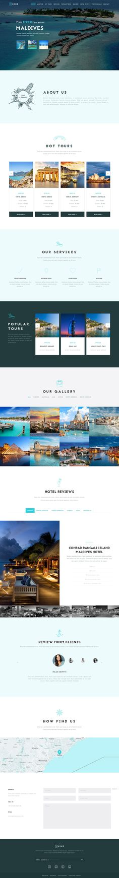 Nine - MultiPurpose One Page Theme, wordpress design, restaurant, travel, cafe, creative agency, ARCHITECTURE