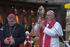 The Pope is ANOINTED .>>The first time the miracle has occurred in the presence of a pope since Pius IX