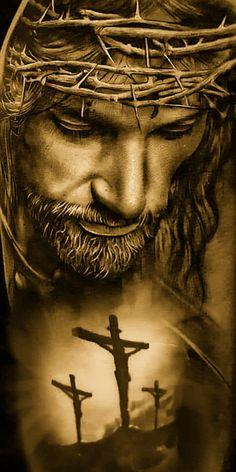 Jesus Christ Painting, Jesus Artwork, Jesus Tomb, Crucifixion Of Jesus, Jesus Christ Quotes, Pictures Of Jesus Christ, Religious Tattoos, Religious Art, Christus Tattoo