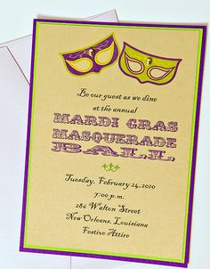34 Best Mardi Gras Party Invitations Images In 2016