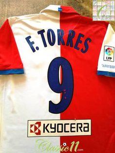 1301b2b07 2006 07 Atlético Madrid Home La Liga Football Shirt F.Torres  9 (L)