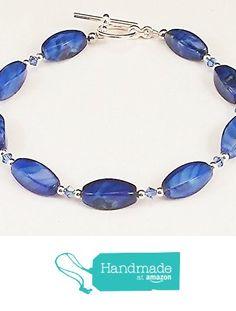 Swarovski Crystals, Beaded Bracelets, Amazon, Handmade, Blue, Amazons, Hand Made, Riding Habit, Pearl Bracelets
