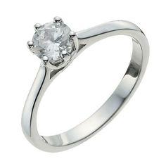 MY DREAM RING! 9ct White Gold Half Carat Diamond Solitaire Ring- H. Samuel the Jeweller