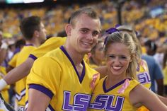 LSU cheerleading. Chanse and Courtney 2012