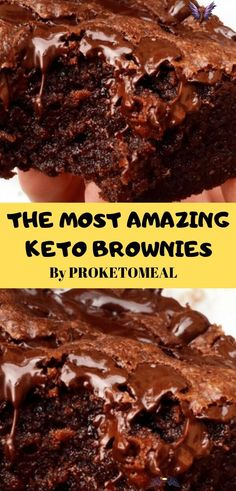 THE MOST AMAZING KETO BROWNIES Flourless keto brownies with walnuts, only 1.5g net carbs each and easy to make. Great for low carb, paleo, sugar free, and gluten free diets.   low carb keto recipes - keto recipes ketogenic - low carb breakfast recipe - instapot keto recipes - clean -keto recipes - keto dinner recipes - keto cooking - weightloss - keto sugars - weight loss recipe #lowcarb #keto #brownies #ketorecipes #cooking<br> Flourless keto brownies with walnuts, only 1.5g net carbs each… Low Carb Dinner Recipes, Low Carb Desserts, Keto Dinner, Dessert Recipes, Healthy Low Carb Recipes, Diabetic Recipes, Easy Keto Dessert, Low Sugar Dinners, Healthy Foods