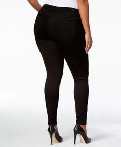 Celebrity Pink Petite Plus Size Super-Soft Walker Skinny Jeans - Black 20WP