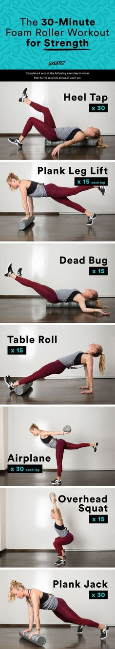 Think your foam roller is only good for warm-ups or recovery? Think again. #foamroller #strength #moves greatist.com/...