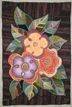 """I pinned this in my crocheting and knitting..even tho its rug hooking.  """"3 Padulas"""" ~ designed & hooked by Laura W. Pierce"""