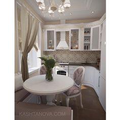 Интерьер кухни в сливочно-шоколадных тонах Дизайн проект #kashtanovacom #интерьер #дизайн #дизайнинтерьера #кухня #интерьеркухни #классика #неоклассика #стиль #декор #декорирование #проект #дизайнпроект #дизайнер #interior #design #interiordesign #kitchen