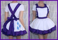 MLP Rarity Purple White Pinafore Apron Costume Skirt by mtcoffinz, $85.00