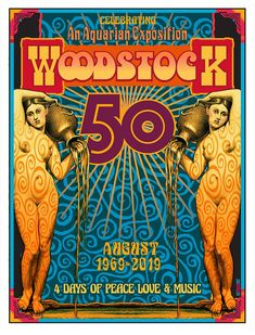 This is a commemorative poster celebrating the Anniversary of The Woodstock Music & Art Fair at Bethel Woods August I created an original poster for the Festival which is available on this site as well. x on Archival Paper using Pigmented Inks and signed. Woodstock Poster, Woodstock Hippies, Woodstock Music, Woodstock Photos, Hippie Posters, Rock Posters, Band Posters, Music Posters, Music Festival Posters