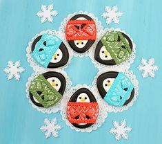 Penguins in Sweater Cookies