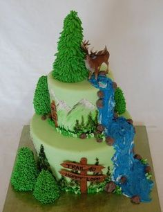 forest birthday cake - Google Search