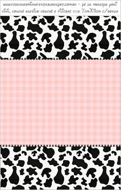 Cow Birthday, Farm Animal Birthday, Farm Themed Party, Farm Party, Candy Bar Labels, Candy Bar Wrappers, Cowgirl Party Favors, Printing On Fabric, Blogger Templates