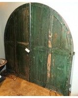 Crusty Green Arched Doors