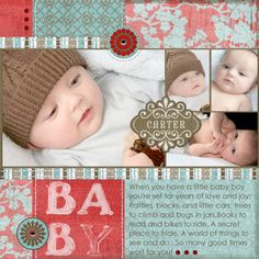 Soft Blue & Red Baby Page...
