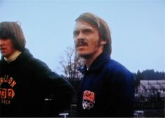 Steve Prefontaine in 1972 Munich Olympics US team warmup jacket, date and location unknown | Flickr - Photo Sharing!
