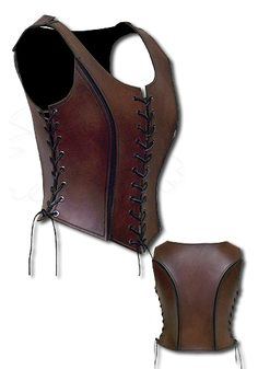 War-Princess, brown - Armour for Women. The armour War-Princess consists of 3 to 3.5 mm thick calf leather. The style is reminiscent of the Amazons and keeps the feminity.