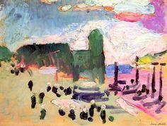 Henri Matisse (1869-1954), Collioure (1905), oil on cardboard, 32.5 x 24.5 cm. Via elpasha71.