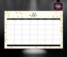 $38.99 Monogrammed Desk Calendar - Personalized Desk Calendar - Planner - Custom Calendar - Monthly Desk Pad Calendar