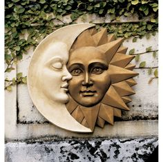 Celestial Harmony: Sun and Moon Wall Sculpture