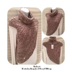 Style with Style... Velvet Katniss Inspired Cowl Wrap Top As worn by Katniss Everdeen in the Hunger Games movie. Hand crocheted using a luxurious velvet yarn. Colour - mink Size - S/M Made in the Scottish Borders. Looks great worn over tops, sweaters and jackets - adds an extra layer