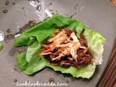 Slow Cooker Shredded Korean Beef Lettuce Wraps