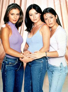 Famous TV and Movie Witches: Phoebe, Prue and Piper Halliwell (not picture Paige Mathews) #Charmed