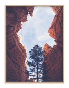 """Red Rock and Sky"" - Art Print by Compass Rose Photography in beautiful frame options and a variety of sizes."
