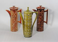 Susan Williams-Ellis for Portmeirion Pottery; 'Cypher', 'Totem', and 'Jupiter' by robmcrorie, via Flickr