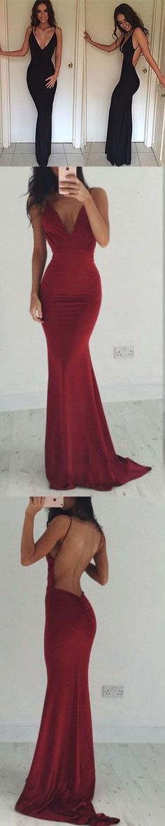 Sexy Backless Prom Dress Cocktail Evening Party Dresses Burgundy Prom Dresses - Thumbnail 1 Sexy Backless Prom Dress Cocktail Evening Party Dresses B