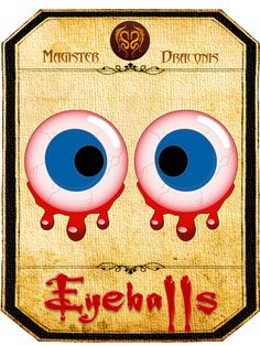 Halloween Sweet Jar Label - Eyeballs