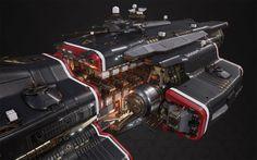 "ArtStation - Titan Defence Systems ""Equalizer"" - Fractured Space, Hans Palm"