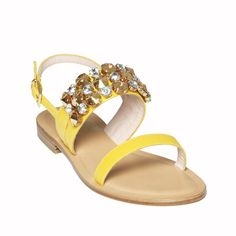 ⊰⊰ Bright #yellow and fine details for the #Panarea Yellow model, in the Island collection. A #sandal made of chamois goat #leather, with leather sole and decorated with precious #Swarovski #crystals... ⊱⊱ #fashion #style #stylish #photooftheday #beauty #beautiful #instagood #instafashion #pretty #girly #girl #girls #shoes #styles #outfit #purse #jewelry #shopping