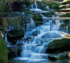 Waterfall in Moss Rock Preserve, in Hoover AL