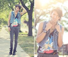 Number A: Team Sonic (by Bobby Raffin) http://lookbook.nu/look/3762189-Number-A-Team-Sonic
