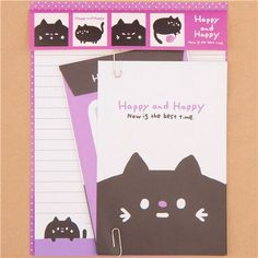 purple cat Letter Set by Q-Lia from Japan - Letter Sets - Stationery - kawaii shop modeS4u