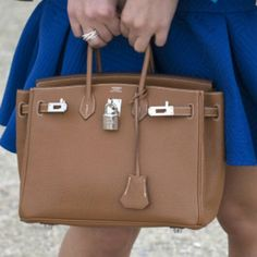 picture of hermes purse in blue jasmine