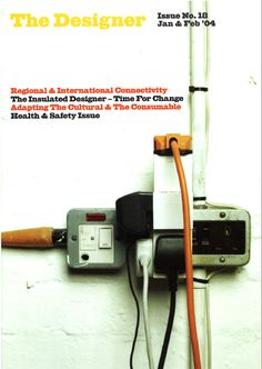 Cover image from 'The Designer' magazine issue 18, Jan & Feb 2004, from the Chartered Society of Designers. #csdArchive