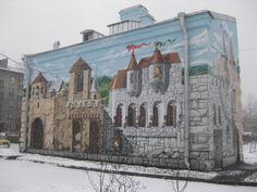 """Санкт-Петербург. А вот какое чудо стоит на улице, с характерным для этого района названием """"Промышленная"""" (д.20, ст.м. """"Нарвская"""")"""
