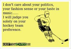 I will make snide comments about politics, fashion sense and taste in music, but if you aren't a Stampede fan....