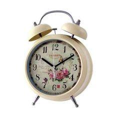 Reloj tamaño gigante silencioso de estilo vintage con potente despertador. No tendrás escusa para no despertar!. Muchos modelos divertidos y originales en  http://www.vasderetro.com/relojes-retro