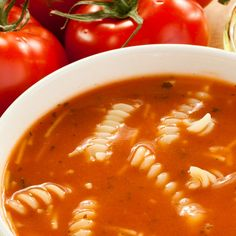 This is one of the easiest soup recipes there is. The broth is made using tomato juice. A surprisingly delicious quick soup to make. Tomato Juice Soup Recipe, Tomato Macaroni Soup Recipe, Homemade Tomato Juice, Canned Tomato Juice, Pasta Soup, Tomato Soup Recipes, Easy Soup Recipes, Homemade Soup, Cooking Recipes