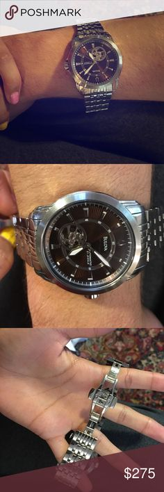 Bulova mens watch Bulova mens stainless steel watch. In excellent condition Bulova Accessories Watches