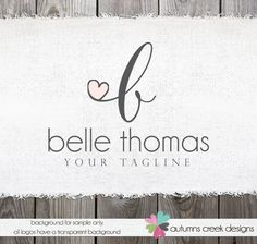 Photography Logo  Swirls Initials Logo and by autumnscreek on Etsy