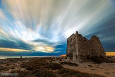 "Old Saracen Tower - An old Saracen tower in a windy sunset, near Taranto, Italy.  Press ""H"" for View on Black   © All Right Reserved"