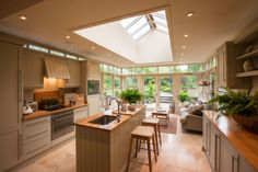 airy kitchen sunroom