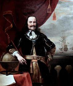 Dit is een zelfportret van Michiel Adriaenszoon de Ruyter. hij werd op 24 Maart 1607 geboren in Vlissingen. zijn vader was biersteker. de baldadige Michiel werd vanwege slecht gedrag van school gegooid. Michiel ging als touwslagersjongen werken op de lijnbaan van Jan Lampsins. Maar toch wilde hij liever zee op.